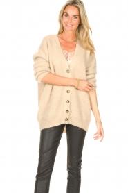Second Female   Gebreid vest Grethe   beige     Afbeelding 5