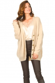 Second Female |  Knitted cardigan Grethe | beige  | Picture 4