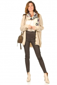 Second Female |  Knitted cardigan Grethe | beige  | Picture 3