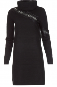 NIKKIE | Sweaterjurk Jacy Lace | Zwart  | Afbeelding 1