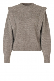 Second Female |  Knitted sweater with puff sleeves Abby | grey  | Picture 1
