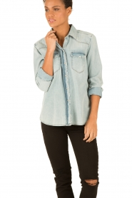 7 For All Mankind | Denim blouse New Western | blauw  | Afbeelding 2