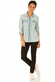 7 For All Mankind | Denim blouse New Western | blauw  | Afbeelding 3