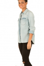 7 For All Mankind | Denim blouse New Western | blauw  | Afbeelding 4