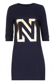 NIKKIE | N Sweet Dress in trui stijl | donkerblauw  | Afbeelding 1
