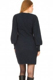 Second Female |  Knitted sweater dress Kalliroi | blue  | Picture 7