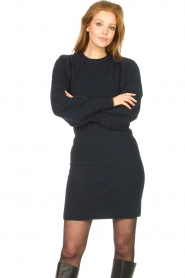 Second Female |  Knitted sweater dress Kalliroi | blue  | Picture 2