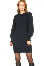 Second Female |  Knitted sweater dress Kalliroi | blue  | Picture 4