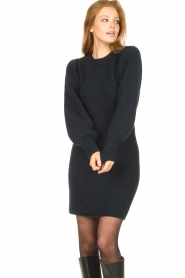 Second Female |  Knitted sweater dress Kalliroi | blue  | Picture 5