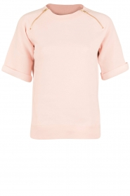 Hunkydory | Fleece trui Leah | roze  | Afbeelding 1