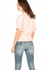 Hunkydory | Fleece trui Leah | roze  | Afbeelding 5