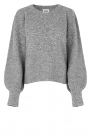 Second Female    Knitted sweater with puff sleeves Kalliroi   grey    Picture 1