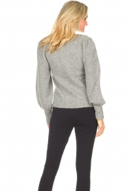 Second Female    Knitted sweater with puff sleeves Kalliroi   grey    Picture 7