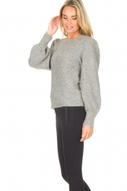 Second Female    Knitted sweater with puff sleeves Kalliroi   grey    Picture 6