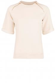 Hunkydory | Fleece trui Leah | beige  | Afbeelding 1