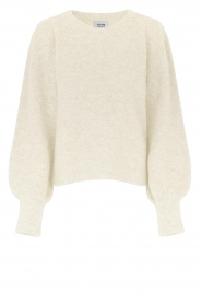 Second Female |  Knitted sweater with puff sleeves Kalliroi | natural  | Picture 1
