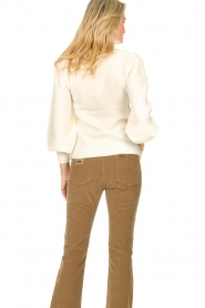 Second Female    Knitted sweater with puff sleeves Kalliroi   natural    Picture 6