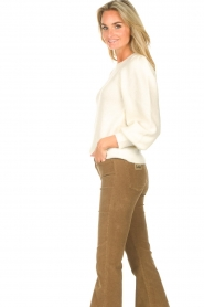 Second Female    Knitted sweater with puff sleeves Kalliroi   natural    Picture 5