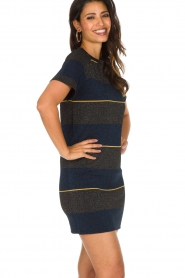 NIKKIE |  Shiny dress Jolien | dark blue   | Picture 5