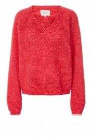 Lolly's Laundry |  V-neck sweater Aliza | red  | Picture 1
