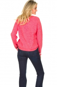 Lolly's Laundry |  V-neck sweater Aliza | red  | Picture 6