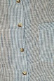 Leon & Harper | Mouwloze blouse Klint | blauw  | Afbeelding 6