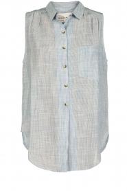 Leon & Harper | Mouwloze blouse Klint | blauw  | Afbeelding 1