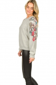 Lolly's Laundry    Sweater with decorated sleeves Tate   grey    Picture 5