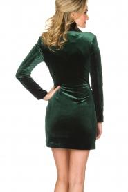 NIKKIE | Velvet blazer jurk Lola | donkergroen  | Afbeelding 5