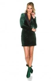 NIKKIE | Velvet blazer jurk Lola | donkergroen  | Afbeelding 3