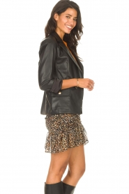 Second Female |  Smocked skirt with lurex Erna | black  | Picture 7