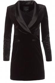 NIKKIE | Velvet blazer jurk Lola | zwart  | Afbeelding 1