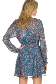 IRO |  Printed wrap dress Bustle | blue  | Picture 6