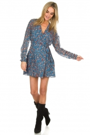 IRO |  Printed wrap dress Bustle | blue  | Picture 4