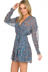 IRO |  Printed wrap dress Bustle | blue  | Picture 5