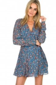 IRO |  Printed wrap dress Bustle | blue  | Picture 2