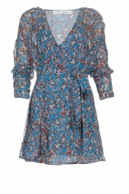 IRO |  Printed wrap dress Bustle | blue  | Picture 1