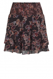Second Female |  Skirt with floral print Miao | black  | Picture 1