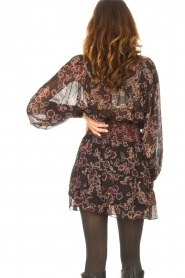 Second Female |  Skirt with floral print Miao | black  | Picture 6