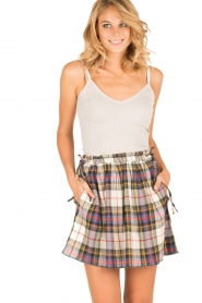 Leon & Harper |  Checkered skirt Jody | multi   | Picture 2