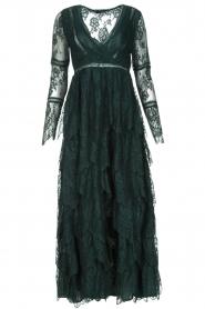 NIKKIE | Kanten maxi-jurk Rani | donkergroen  | Afbeelding 1