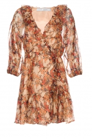 IRO |  Floral wrap dress Pacify | nude  | Picture 1