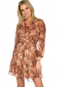 IRO |  Floral wrap dress Pacify | nude  | Picture 2