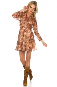 IRO |  Floral wrap dress Pacify | nude  | Picture 3