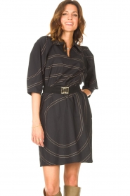 Second Female |  Shirt dress Dakky | black  | Picture 4