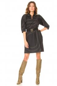 Second Female |  Shirt dress Dakky | black  | Picture 3
