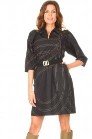 Second Female |  Shirt dress Dakky | black  | Picture 2