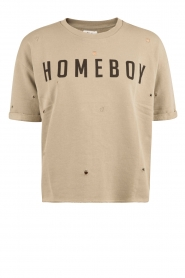 Zoe Karssen |  Boxfit sweatshirt Homeboy | army green  | Picture 1