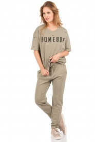 Zoe Karssen |  Boxfit sweatshirt Homeboy | army green  | Picture 3