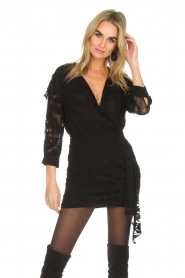 IRO |  Dress with embroideries Famous | black  | Picture 2